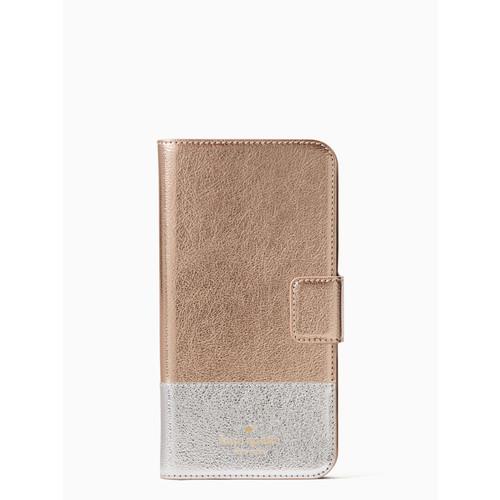 metallic wrap folio iphone 7/8 plus case
