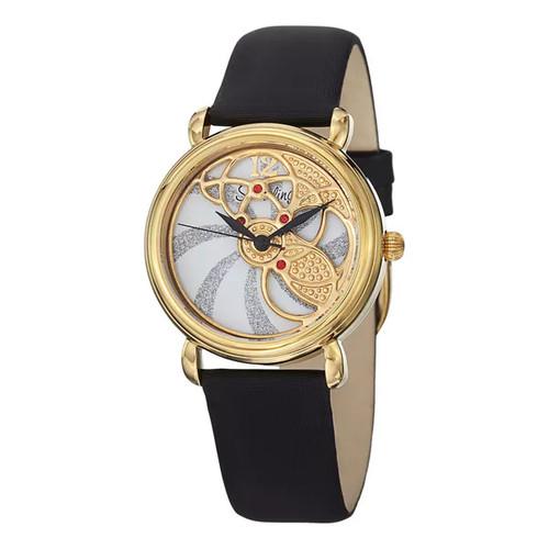 Stuhrling Original Women's Pirouette Swiss Quartz Black Strap Watch - Stuhrling Original Women's Watch