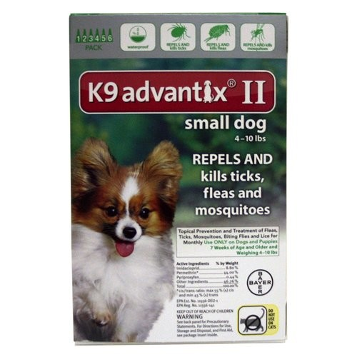 K9 Advantix II BAY-81520364 Flea and Tick Control for Dogs 0-10 lbs 6 Month Supply