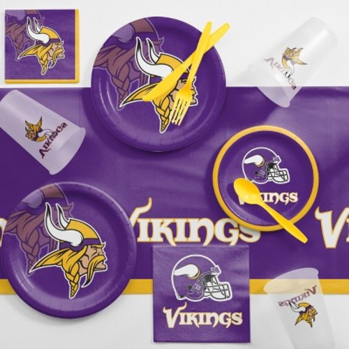 NFL Purple And Yellow Minnesota Vikings Game Day Party Supplies Kit