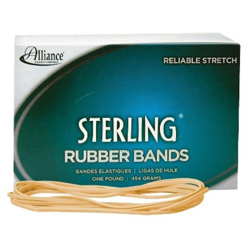 Alliance Rubber 25405 Sterling Rubber Bands Size #117, 1 lb Box Contains Approx. 250 Bands