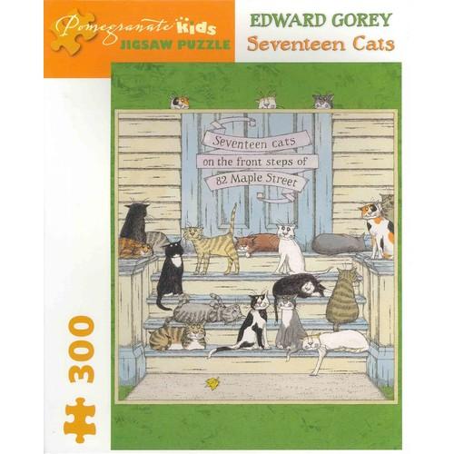 Edward Gorey - Seventeen Cats: 300 Piece Puzzle (General merchandise) [Edward Gorey - Seventeen Cats: 300 Piece Puzzle General merchandise]