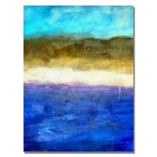 Trademark Fine Art Michelle Calkins 'Abstract Dunes' Canvas Art 18x24 Inches