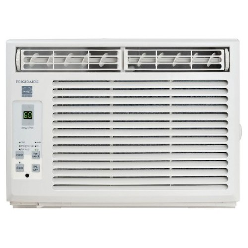 Frigidaire - 5000-BTU 115V Window-Mounted Mini-Compact Air Conditioner with Full-Function Remote - White