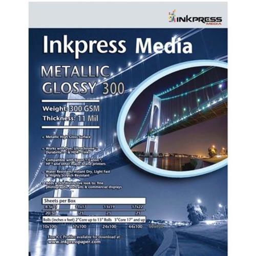 Inkpress Metallic 300 High-Gloss Photo Paper (17x38