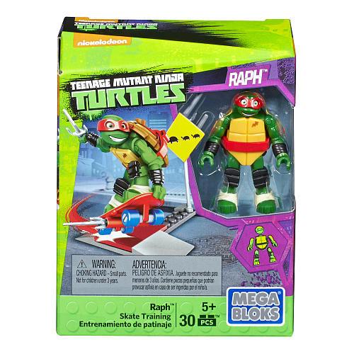 Mega Construx Teenage Mutant Ninja Turtles Raph Skate Training