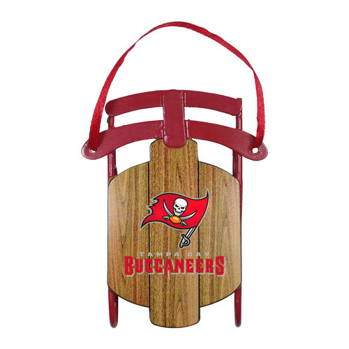 NFL Metal Sled Ornament - Tampa Bay Buccaneers