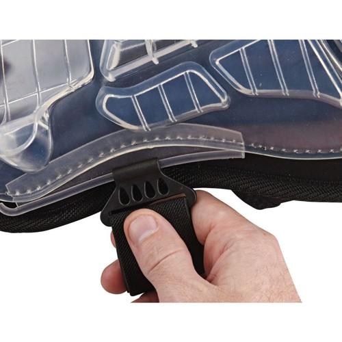 Ergodyne ProFlex Injected Gel Knee Pad With Extra Long Cap, Black, Pair