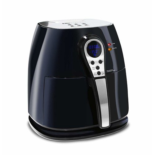 Elite Platinum 3.2 Quart Electric Digital Air Fryer Cooker, 1400-Watts with 26 Full Color Recipes