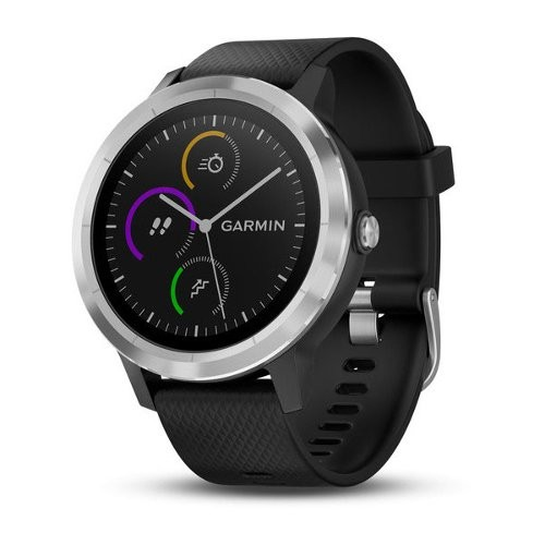 Garmin vvoactive 3 GPS Smartwatch - Black with Stainless