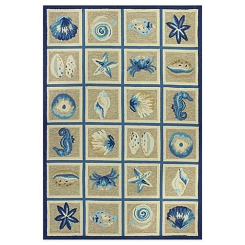 KAS Meridian Oceana 5-Foot x 7-Foot 6-Inch Indoor/Outdoor Rug in Blue