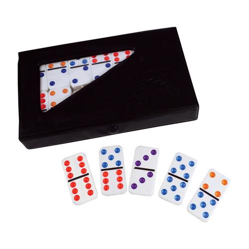 Puremco Double 6 Color Dot Tournament Size Dominoes - Double 6 Color Dot Dominoes - Tournament Size