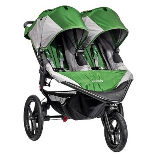 Baby Jogger Summit X3 Double Jogging Stroller (Green/Gray)
