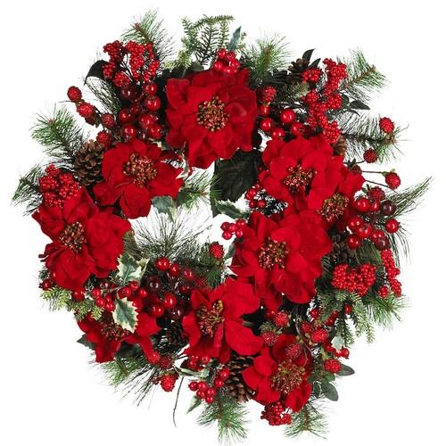 nearly natural Poinsettia Wreath