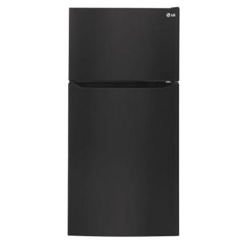 LG Electronics 24 cu. ft. Top Freezer Refrigerator in Smooth Black