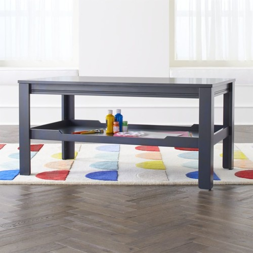 Large Adjustable Charcoal Kids Table Storage Tray