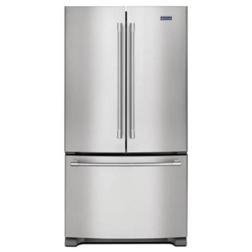 Maytag 36 in. W 25.2 cu. ft. French Door Refrigerator in Fingerprint Resistant Stainless Steel
