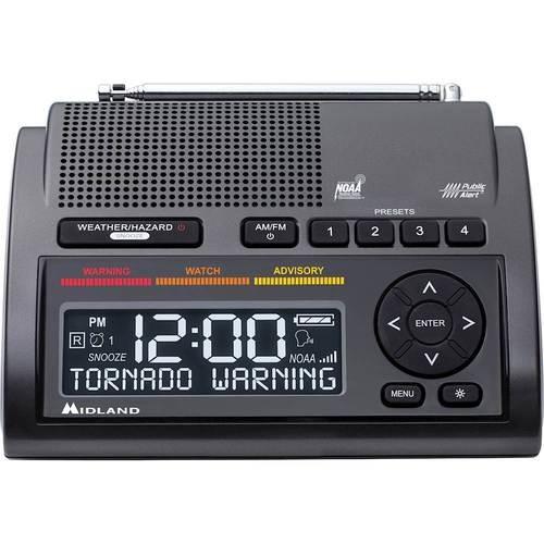 Midland - Weather Alert Radio - Black