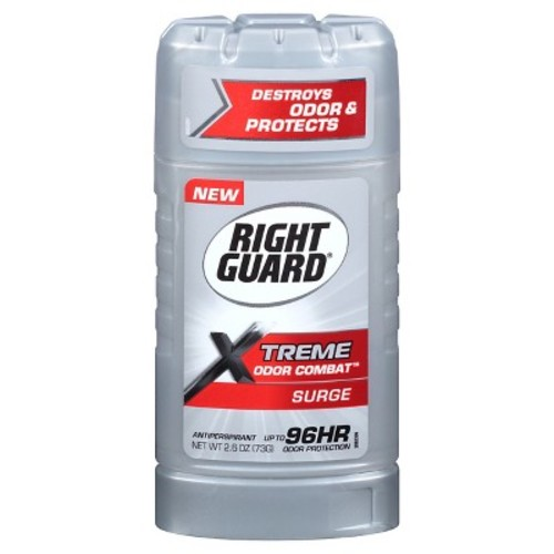 Right Guard Xtreme Odor Combat Invisible Solid Antiperspirant and Deodorant - Surge 2.6 oz