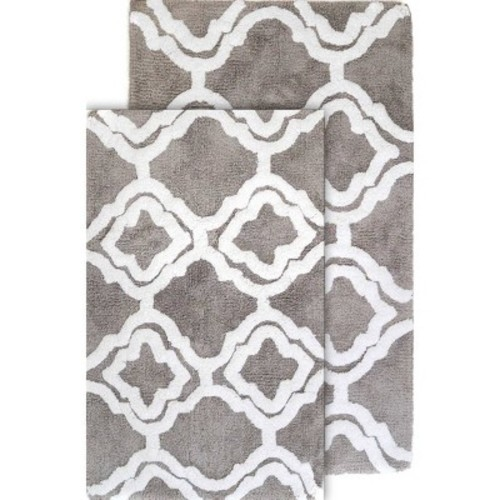 Double Quatrefoil Bath Rug Set - Chesapeake