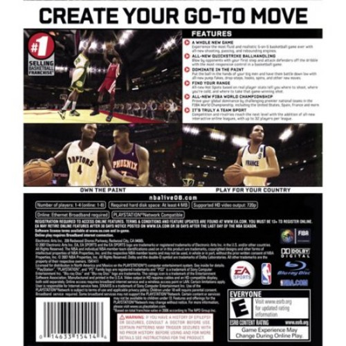 Nba Live 2008 (ps3) - Pre-owned