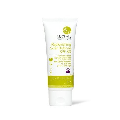 MyChelle Replenishing Solar Defense SPF 30, Zinc Oxide-Based Suncreen for Normal to Dry Skin Types, 2.3 fl oz