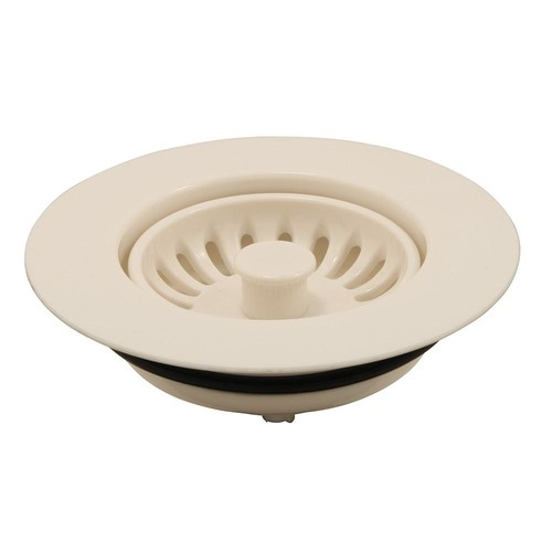 Prime-Line Garbage Disposal Flange Plastic Trim with Strainer Basket 3-1/2 in. Ivory