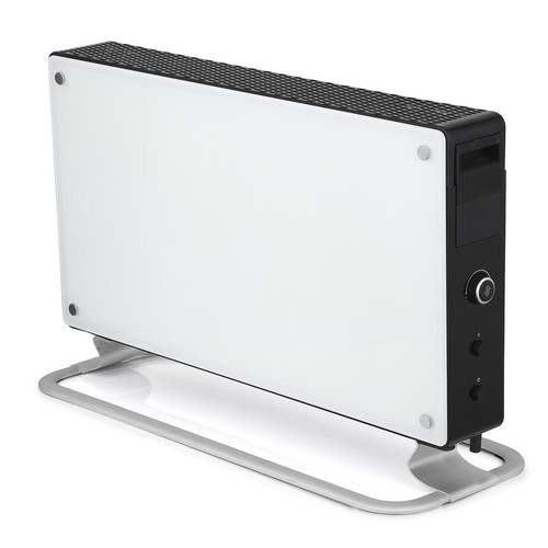 MILL 1500-Watt Glass Convection Portable Heater with Fan