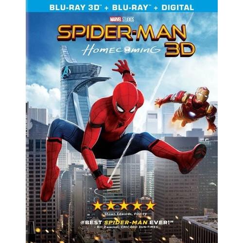 Spider-Man: Homecoming [3D] [Includes Digital Copy] [Blu-ray] [Blu-ray/Blu-ray 3D] [2017]