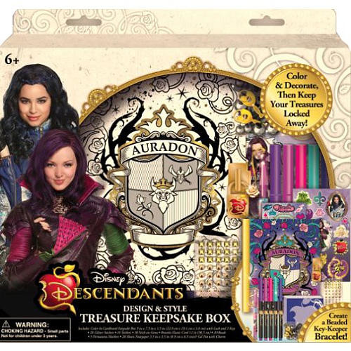 Disney Descendants Design & Style Treasure Keepsake Box
