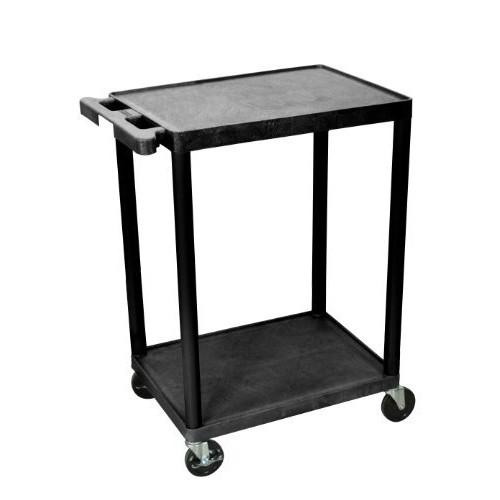 Luxor Multipurpose Utility Cart with 2 Shelf - Black