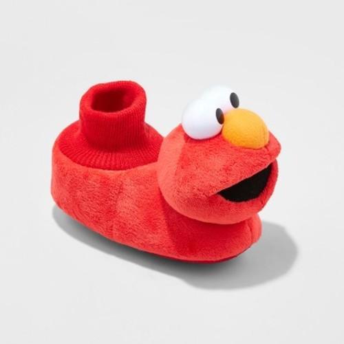 Toddler Boys' Sesame Street Elmo Bootie Slippers - Red