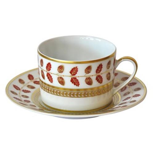 Constance Red Tea Saucer
