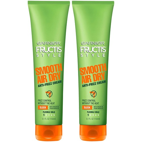 Garnier Fructis Style Smooth Air Dry Anti-Frizz Cream, 5.1 fl. oz. (Pack of 2)