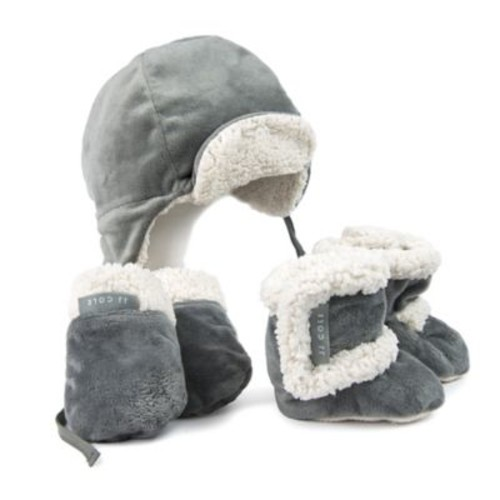 JJ Cole 5-Piece Bomber Hat, Mitten, and Boot Set in Graphite