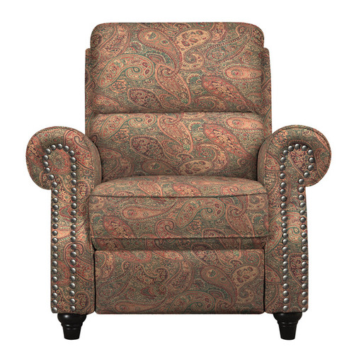 ProLounger Recliner Chairs & Rocking Recliners ProLounger Paisley Push Back Recliner Chair
