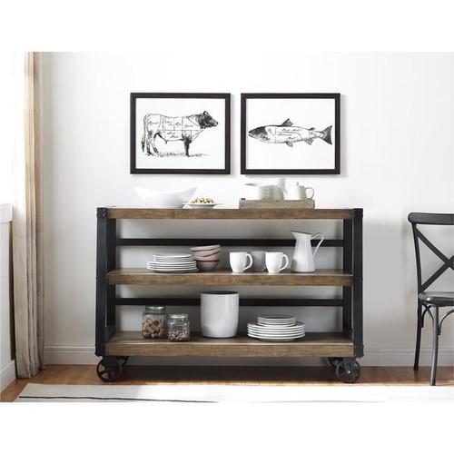Ameriwood Home Wade Wood Veneer 55-inch TV Console