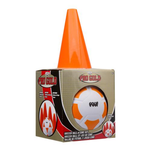 POOF-Slinky POOF Pro Gold Soccer Ball & Cone Set