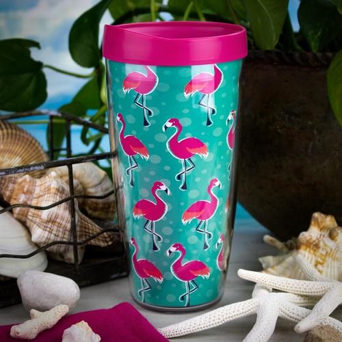 Flamingos 22 oz. Tumbler