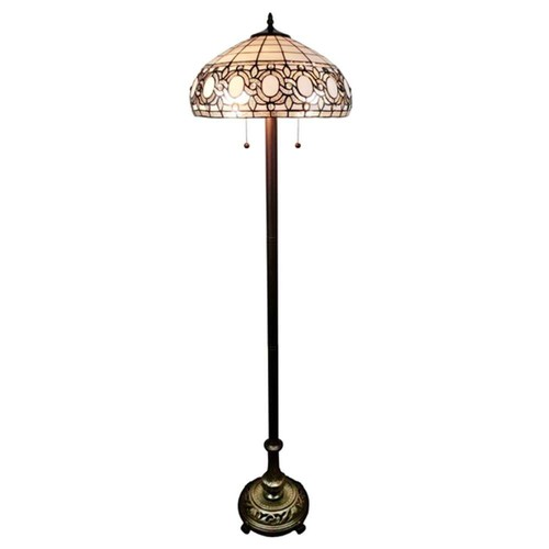 Amora Lighting 62 in. Multicolored Tiffany Style Floral Floor Lamp