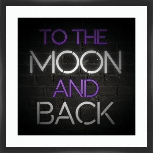 PTM Images Framed Art, To The Moon, 26