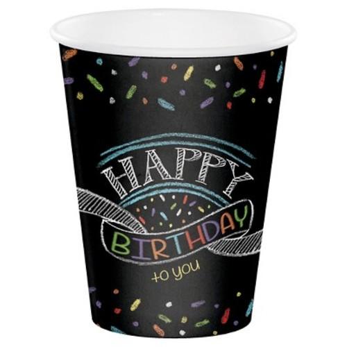 Chalk Birthday Cups, 8 pk