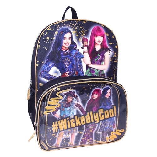 Disney's Descendants Evie, Mal & Uma Backpack & Lunch Tote Set