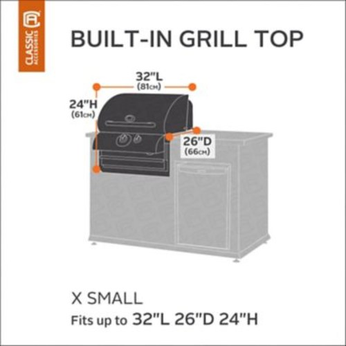 Classic Accessories Ravenna Built-In Grill Cover; X-Small
