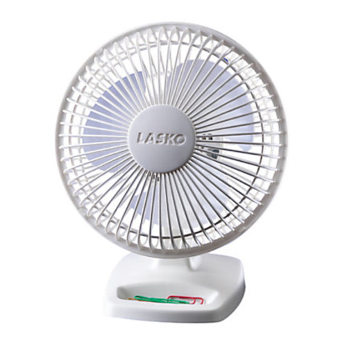 Freestanding Desk Fan, White