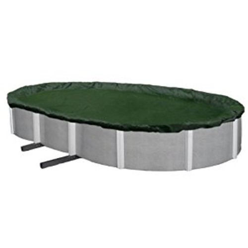 Blue Wave Silver 12-Year 12-ft x 20-ft Oval Above Ground Pool Winter Cover [12 by 20-Feet]
