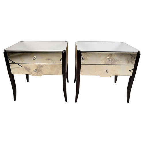 Mirrored Side Tables by Amy Howard