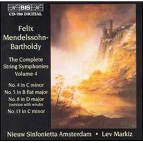 Mendelssohn: String Symphonies Vol.4 By Lev Markiz (Audio CD)