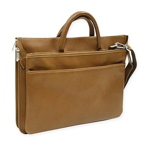 Piel Leather16-Inch Classic Expandable Briefcase in Saddle
