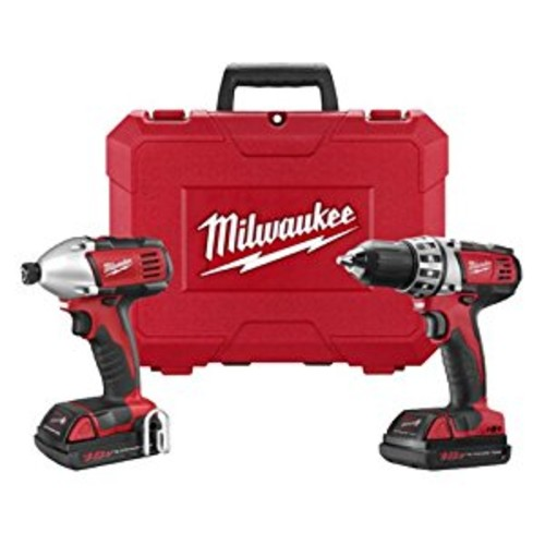 Milwaukee M18 18-Volt Lithium-Ion Cordless Drill Driver/Impact Driver Combo Kit (2-Tool) w/(2) 1.5Ah Batteries, Charger, Tool Bag